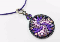 Swirl Pendant Jewellery Kit with Khehttp://www.quantockhills.com/online_resources/view/recreation_leafleops Par Puca and SuperDuos - Purple Tones